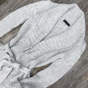 Zara Light Grey Sweater Cardigan Duster Pockets